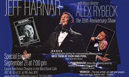 9/21 – Jeff Harner @ Laurie Beechman Theatre  7:00pm
