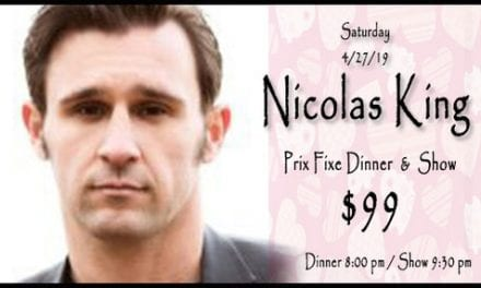 04/27 Nicolas King @ Beach 9:30 pm