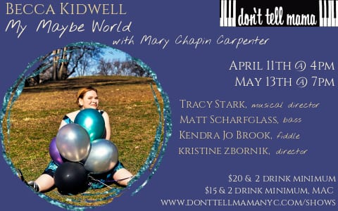 CANCELLED: 05/11 Becca Kidwell @ DTM