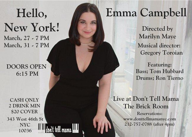CANCELLED 3/27 & 3/31 Emma Campbell @ DTM