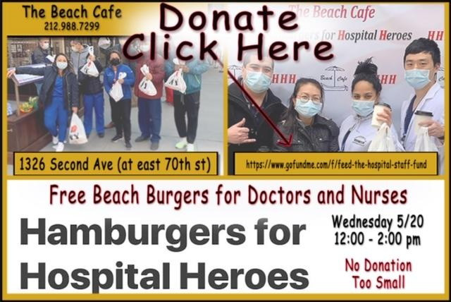 WEDNESDAY 05/20 – 12:00-2:00 pm The Beach Cafe's Fund Raiser for Heroes