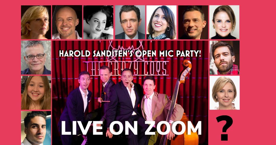 THURSDAY 05/21 @ 2:00 pm EST Harold Sanditen's Open Mic