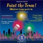 10/15/20 @ 7:30 pm Singnasium's Paint the Town! Fall Fun(d) Raiser!