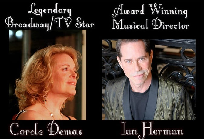 """01/01 @ 7:30 pm Carole Demas and Ian Herman in """"With You"""""""