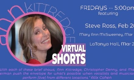 Fri., 3/12 @ 5:00 pm Ann Kittredge's Virtual Shorts with Mary Ann McSweeney