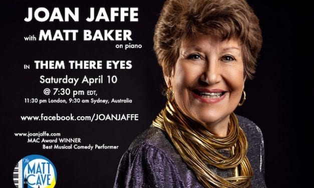 "Sat., 4/10 @ 7:30 pm EDT Joan Jaffe in ""Them There Eyes"""