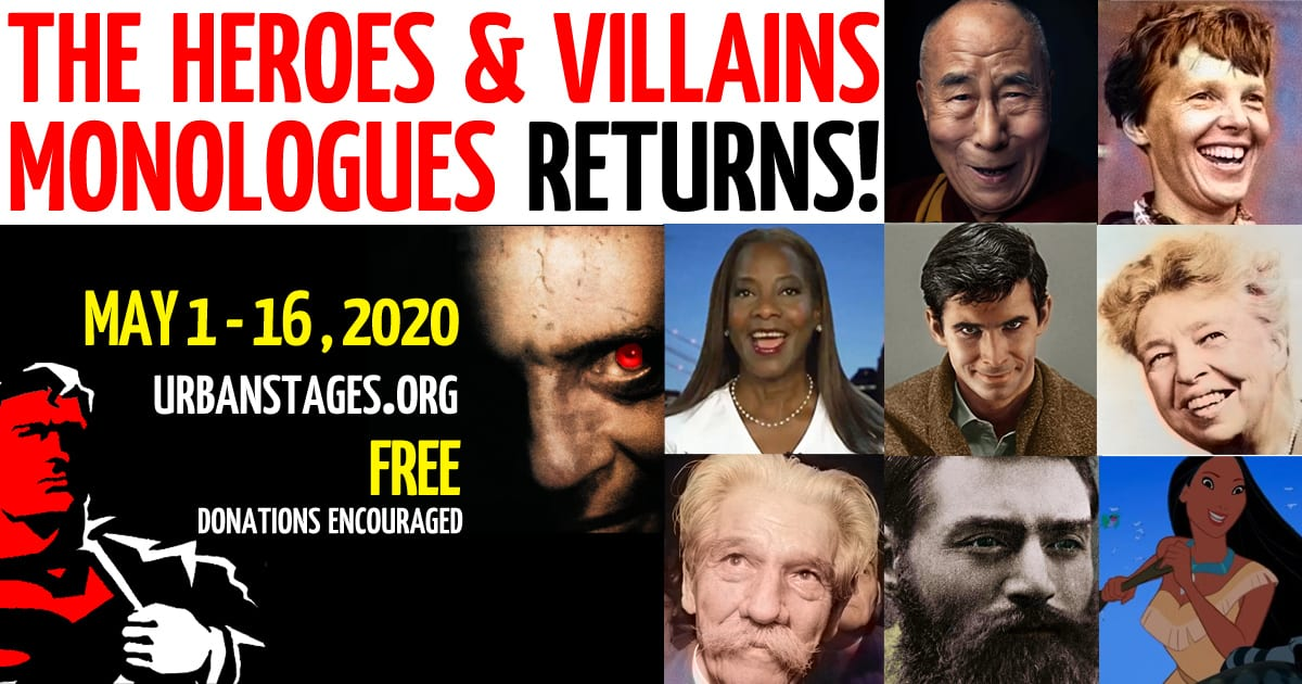 """May 1-16 Urban Stages presents """"The Heroes & Villains Monologues"""""""