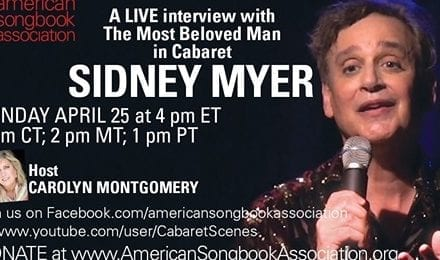 Sun., 4/25 @ 4:00 pm EDT Guest ASA Video Interview with Sidney Myer by Carolyn Montgomery