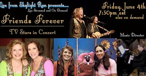 Fri. 6/4 @ 7:30 pm Broadway Star Carole Demas with Paula Janis in Friends Forever!